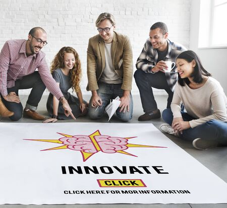 aspirations: Innovate Create Ideas Aspirations Strategy Concept
