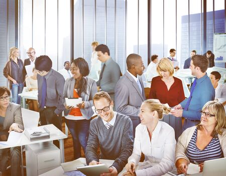 crowded: Multiethnic Crowded Diverse Meeting Teamwork Concept Stock Photo