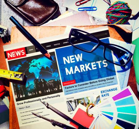 consumerism: New Markets Consumerism Commercial Business Concept