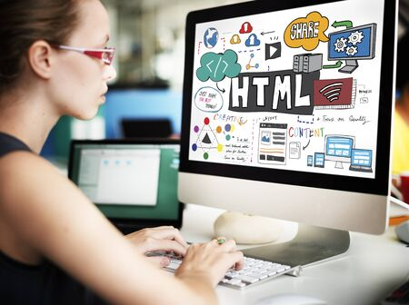 html: HTML Connectiion Links Digital Communication Concept
