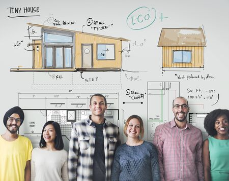 Casa layout Pianta Blueprint Sketch Concetto
