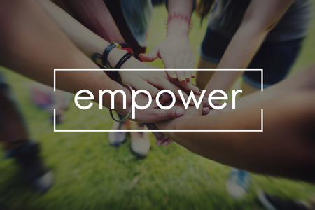 Empower Enable Inspire Lead Concept Stock Photo