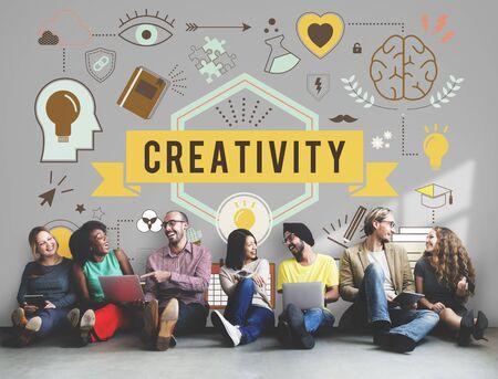 skills diversity: Creativity Ability Aspirations Create Development Concept Stock Photo