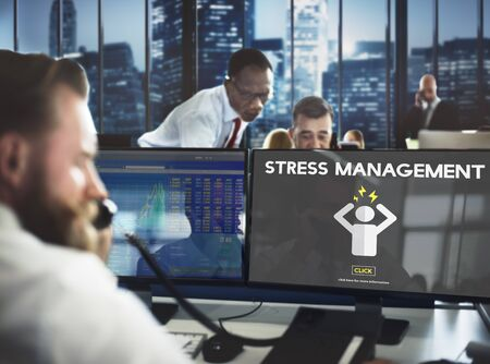 strain: Stress Management Tension Anxiety Strain Rehabilitation Concept
