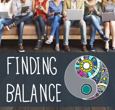 stabilize: Finding Balance Yin-yang Wellbeing Concept