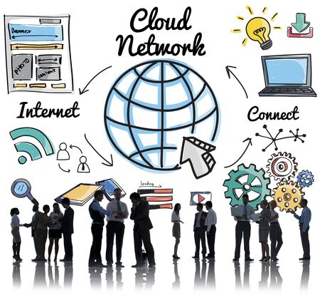 globalization: Cloud Network Communication Connection Globalization Concept