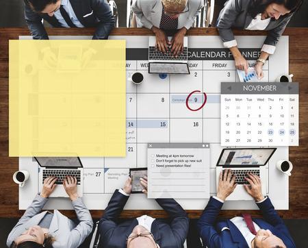 Schedule Planner Task Agenda Checklist Concept Stock Photo