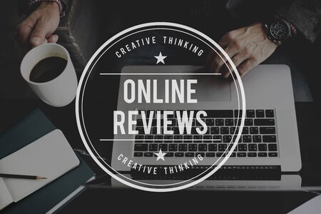 reviews: Online Reviews Feedback Comment Suggestion Concept Stock Photo