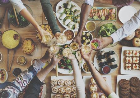 Essen ESSEN Festliche Cafe Mahlzeit Konzept Feiern