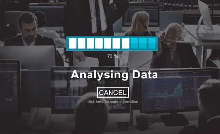 businessman waiting call: Analysing Data Loading Progress Bar Concept