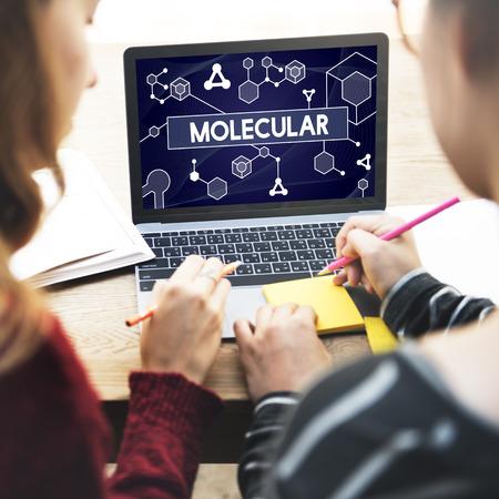 cromosoma: Molecular Atom Cromosoma Denetic Concept Lab Macro Foto de archivo