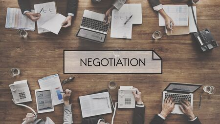 deliberations: Negotiation Deal Agreement Collaboration Talk Concept