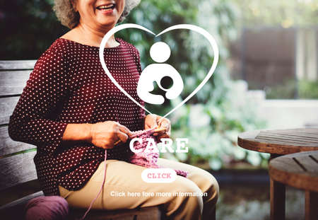 recreational pursuit: Care Children Maternity Heart Life Concept Stock Photo