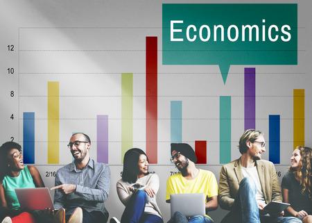 asian man laptop: Economics Financial Growth Change Graph Concept