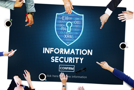 Information Security Online Privacy Protection Concept