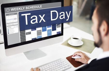 exemption: Tax Day Taxation Financial Money Money Concept Stock Photo