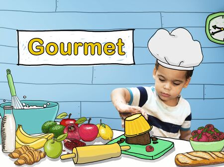 cookery: Gourmet Kitchen Food Restaurant Cookery Meal Concept