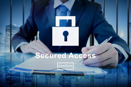 Secured Access Protection Security Safe Concept Stock Photo