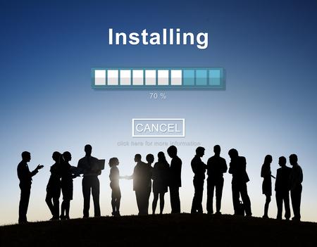 back lit: Installing Bar Load Waiting Indicator Concept