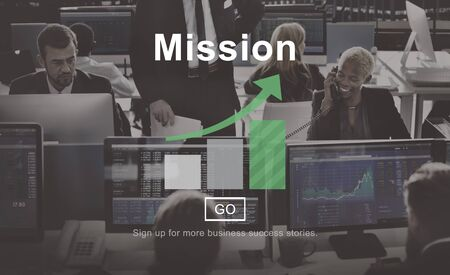 financial occupation: Mission Goals Target Aspirations Motivation Strategy Concept