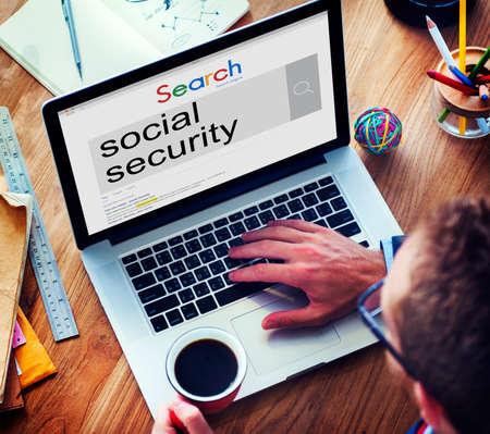 seguridad social: Seguridad Social de pensión de beneficios el concepto de retiro de Bienestar Foto de archivo