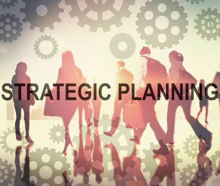 planificacion estrategica: Gestión Planificación Estratégica Concepto Objetivo Solución Foto de archivo