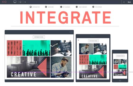 integrate: Integrate Merging Blend Combine Concept