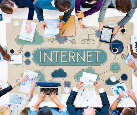 net meeting: Internet Global Communication Connection Data Concept