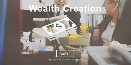 possession: Wealth Creation Affluence Investment Concept Stock Photo