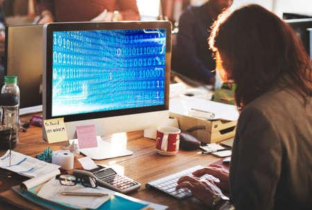 codigo binario: C�digo d�gitos binarios Concepto Software Technology
