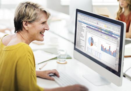 hoja de calculo: Spreadsheet Marketing Budget Report File Concept Foto de archivo