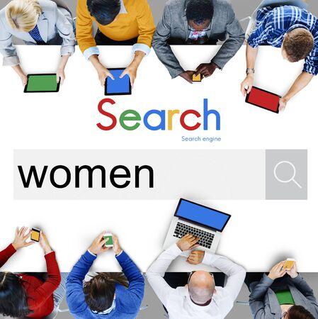 feminism: Women Woman Lady Girl Female Feminism Madam Concept Stock Photo