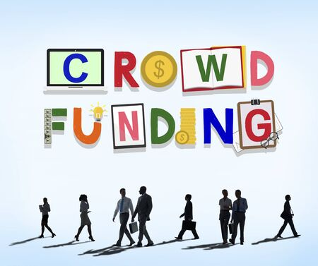 contribution: Crowdfunding Fundraising Contribution Investment Concept Stock Photo