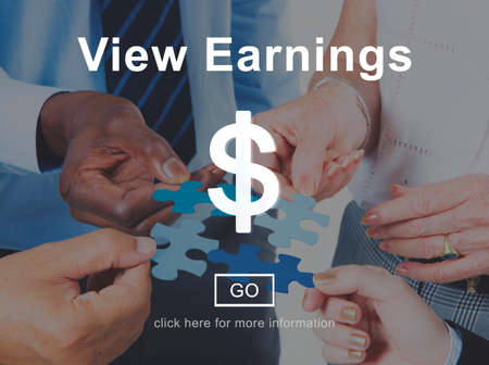 ganancias: View Earnings Accounting Financial Money Concept