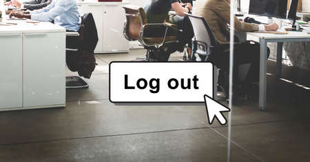 log out: Log Out Online Technology Modern Interface Concept