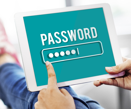 private access: Password Access Firewall Internet Log-in Private Concept
