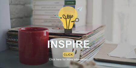 Inspire Ispirazione Aspirazione Creatività Imagine Concetto