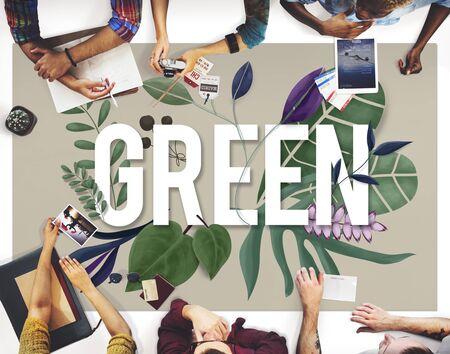 green eco: Eco Friendly Earth Day Green Environment Concept