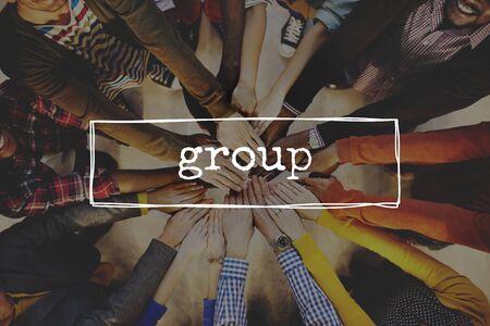 gang: Group Crowd Gang Partnership Society Union Unit Concept Foto de archivo