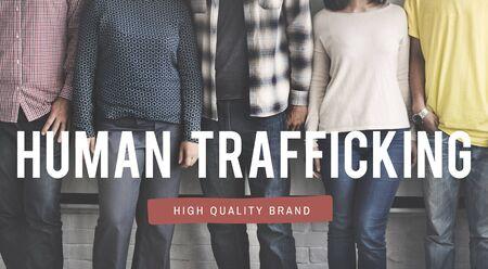 human trafficking: Human Trafficking Rights Exploitation Slavery Concept