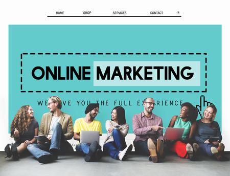 Online Marketing Homepage Sitio web Digital Concept