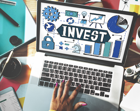 Invest Investment Business Economy Finance Concept Stock Photo