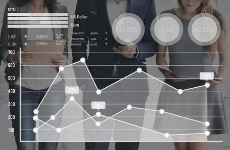 trend: Trend Graph Statistics Information Analysis Concept Stock Photo
