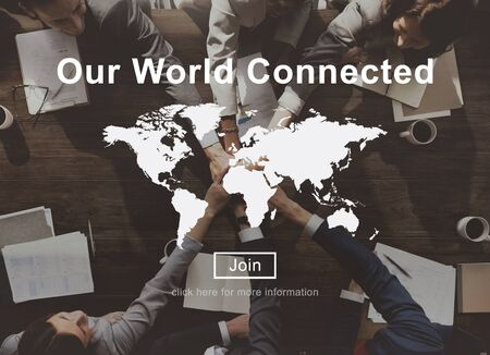our company: Our World Connected Social Networking Interconnection Concept