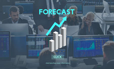 stock predictions: Forecast Future Planning Predict Stratgey Trends Concept