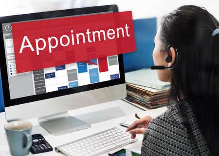 online service: Appointment Activity Schedule Calendar Meeting Concept