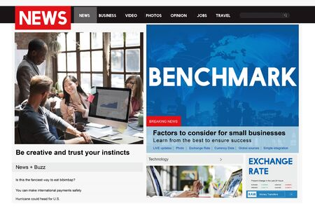 benchmark: Benchmark Comparision Standard Performance Measurement Concept Stock Photo