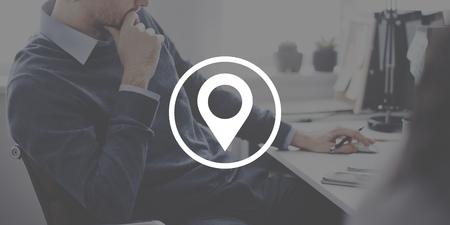 Check In Icon Location Marker Concept