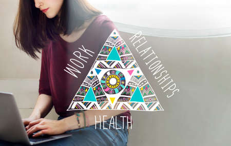 stabilize: Work Relationships Health Balance Equal Stable Concept