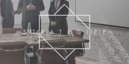 strategize: Strategize Tactics Vision Solution Development Concept Stock Photo